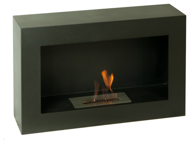 Spectrum Freestanding Ventless Ethanol Fireplace Modern