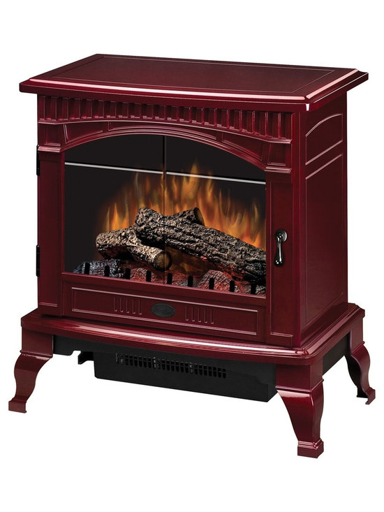 """Dimplex Gloss Cranberry Traditional I Electric Stove - Dimensions: 25"""" x 26-1⁄2"""" x 15-1⁄2"""""""