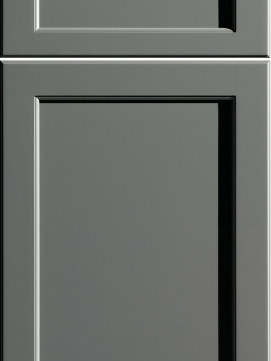"""Dura Supreme Cabinetry - Dura Supreme Cabinetry Kendall Panel Cabinet Door Style - Dura Supreme Cabinetry """"Kendall Panel"""" cabinet door style shown in Paintable with """"Storm Gray"""" gray paint finish."""