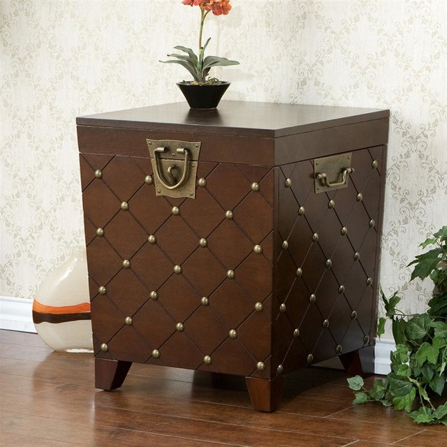 Holly & Martin Caldwell Trunk End Table in Es contemporary-side-tables-and-end-tables