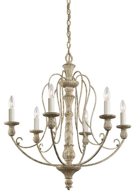 Kichler 6 Light Medium Chandelier Distressed Antique
