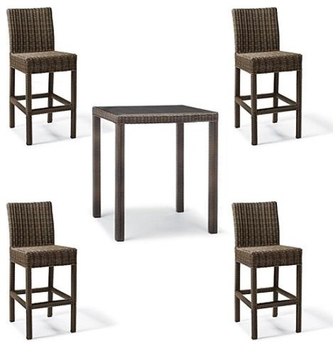Hyde Park 5-pc. Bar Table Set, Patio Furniture traditional-indoor-pub-and-bistro-tables