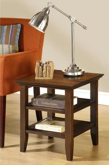 Normandy Tobacco Brown End Table - contemporary - side tables and
