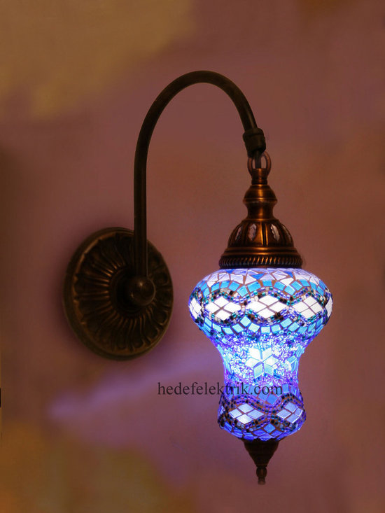 Blue Turkish Style Mosaic Lighting Wall Sconce - Code: HD-20003_06
