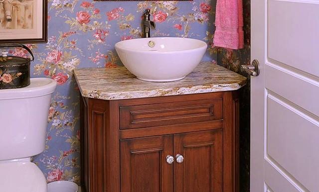 Amish Custom Cabinetry traditional-powder-room