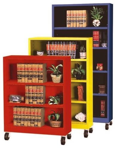 Sandusky Lee Heavy Duty Commercial Mobile Metal Bookcase - BM10361830-07 - Contemporary ...