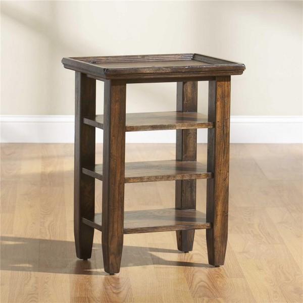 Broyhill Attic Heirlooms Rustic Oak Accessory Table 3399 07 Transitional Coffee Tables