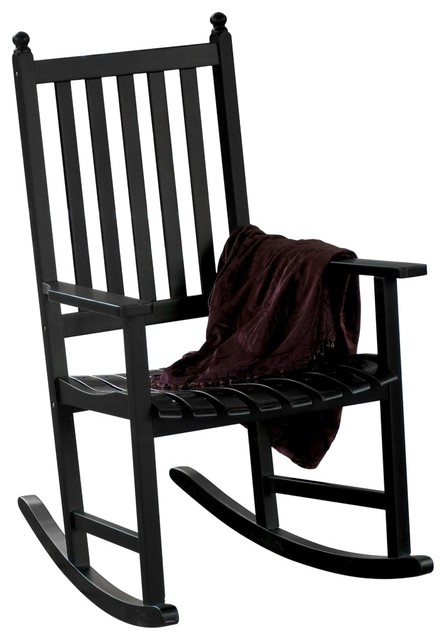 Country Cottage Eucalyptus Black Outdoor Rocking Chair Traditional Rock