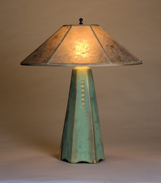 Hopewell Collection of table lamps craftsman-table-lamps