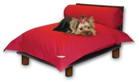 Modern Luxury Red Master Suite Pet Bed contemporary-pet-supplies