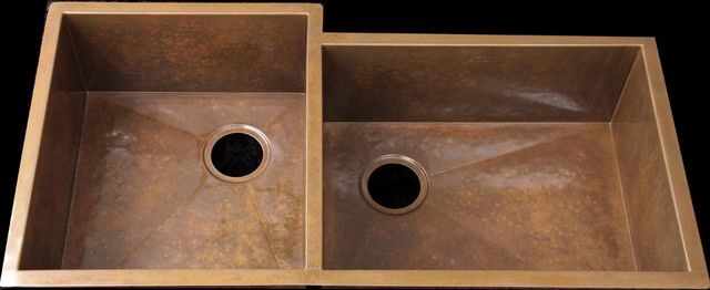 Double bowl copper undermount sink  kitchen sinks