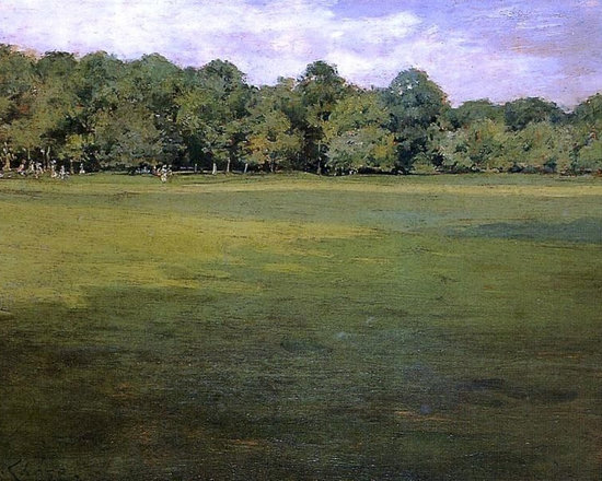 "William Merritt Chase Prospect Park (Croquet Lawn, Prospect Park Print - 16"" x 24"" William Merritt Chase Prospect Park (also known as Croquet Lawn, Prospect Park (?)) premium archival print reproduced to meet museum quality standards. Our museum quality archival prints are produced using high-precision print technology for a more accurate reproduction printed on high quality, heavyweight matte presentation paper with fade-resistant, archival inks. Our progressive business model allows us to offer works of art to you at the best wholesale pricing, significantly less than art gallery prices, affordable to all. This line of artwork is produced with extra white border space (if you choose to have it framed, for your framer to work with to frame properly or utilize a larger mat and/or frame).  We present a comprehensive collection of exceptional art reproductions byWilliam Merritt Chase."