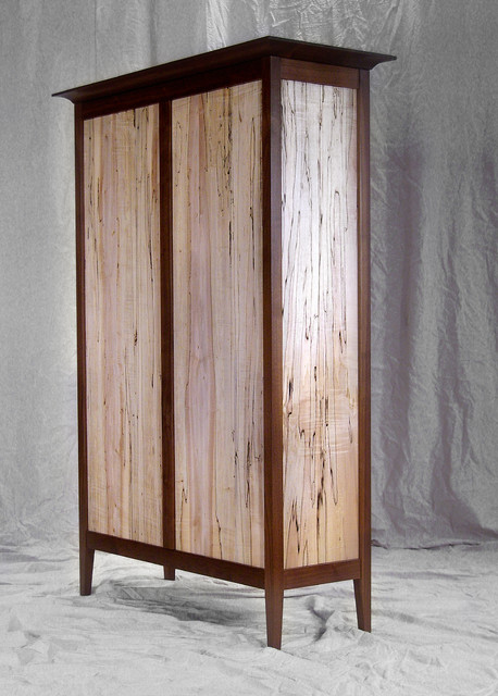 Black Walnut & Spalted Maple Bookcase - Contemporary - Furniture - denver - by Todd A ...