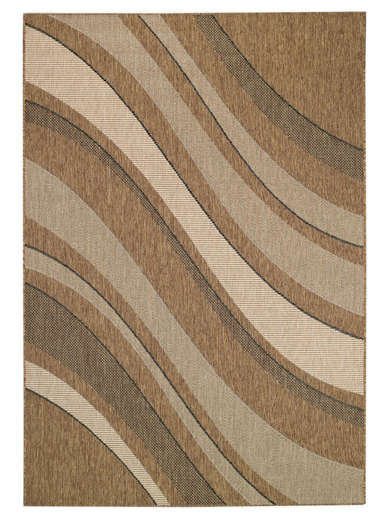 Seabreeze Tides rug in Earth - This rugged and textured cross weave is plenty durable for kitchens and sunrooms - and for covered verandas and decks, too!