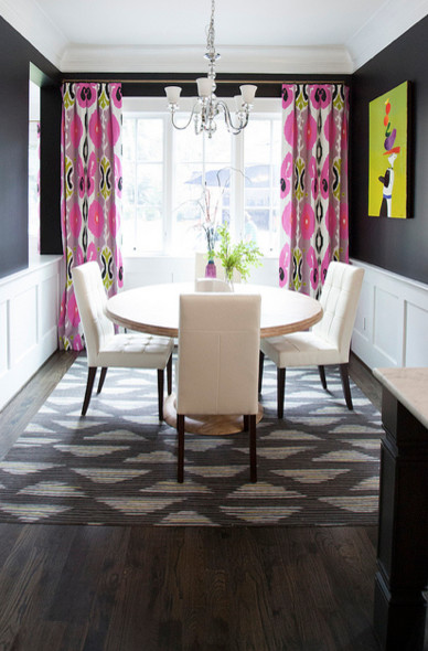eclectic dining room Color of the Month: Decorating with Pink