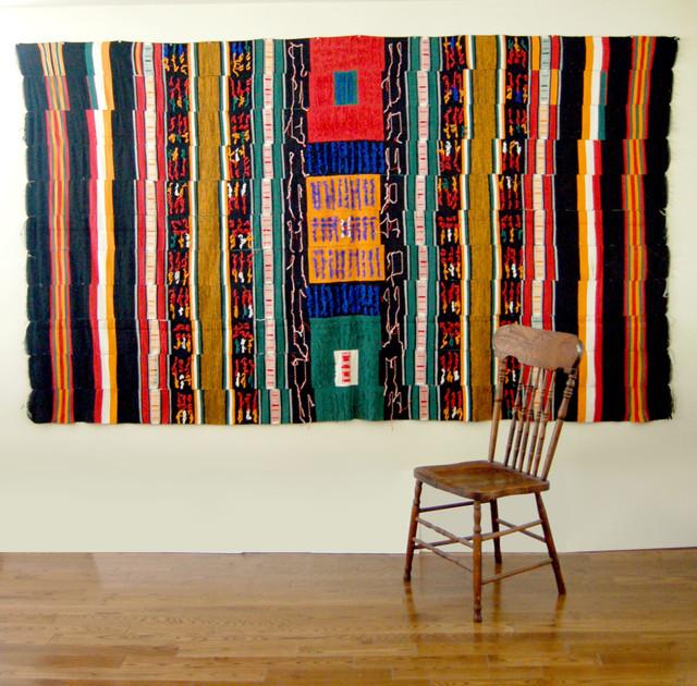 Handwoven Fulani Sakala Wedding Blanket eclectic-accessories-and-decor