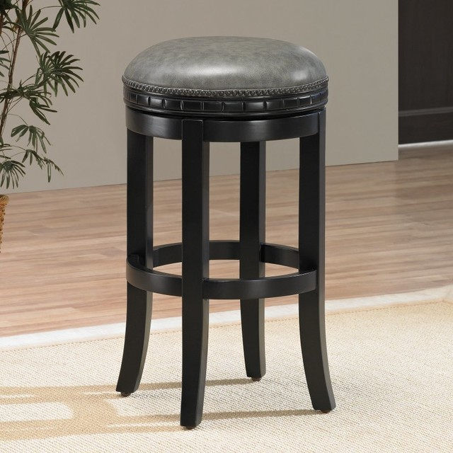 ahb sonoma backless counter height stool black 111163