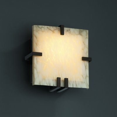 Justice Design Group Fusion FSN-5550-DROP-DBRZ Clips Square Wall Sconce - Dark B modern-wall-lighting