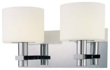 George Kovacs by Minka P5192-077 2-Light Bath Light - Chrome - 13.25W in. modern-bathroom-lighting-and-vanity-lighting