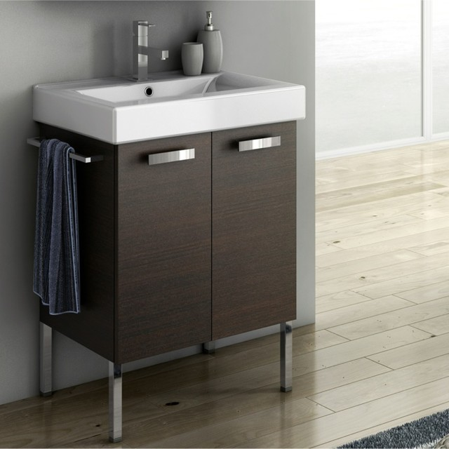 23 Inch Vanity Cabinet With Fitted Sink Contemporary Bathroom Vanities And Sink Consoles