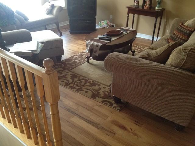 Hickory Cognac Distressed wood-flooring