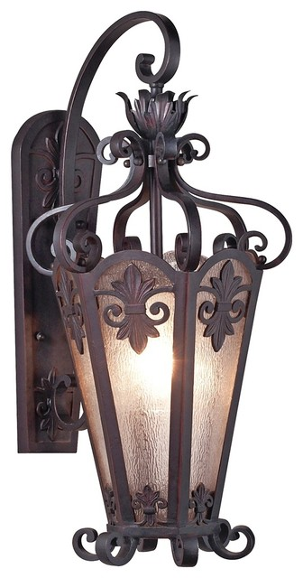 "Country - Cottage Lonsdale 28"" High Antique Sable Outdoor Wall Light traditional outdoor lighting"