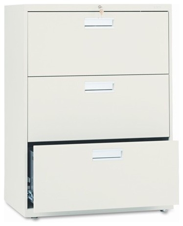 600 Series Three-Drawer Lateral File, 30w x19-1/4d, Putty modern-home-office-accessories