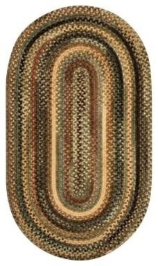 Capel Eaton 0442QS Braided Rug - Green modern-rugs