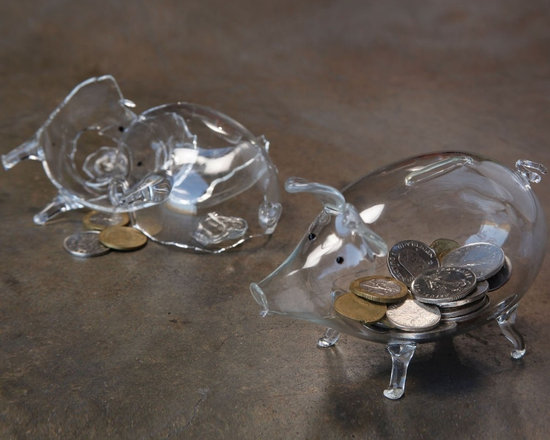 Fathers Day 2013-Clear Glass Piggy Bank - Clear Glass Piggy Bank