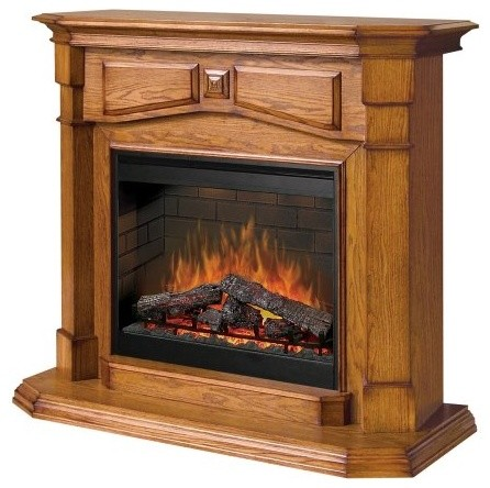 Dimplex Notting Hill Oak Electric Fireplace traditional-fireplaces