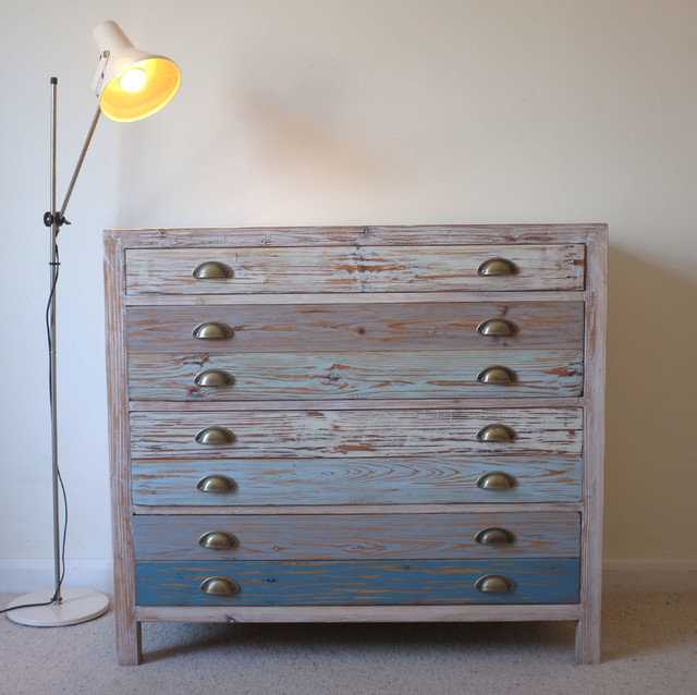 Beach Hut Style Chest Drawers Reclaimed Wood Dressers Other Metro By
