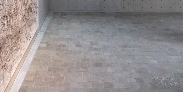 Stone Floors Antique 'Kronos Limestone' Reclaimed Tiles & Pavers mediterranean-wall-and-floor-tile
