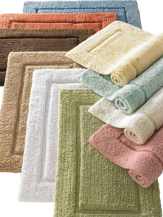 Luxor Linens - Mariabella Bath Rug, Large, Moonstone - Thick, absorbent Egyptian cotton bath rug in 10 colors. Strong, absorbent and luxurious.