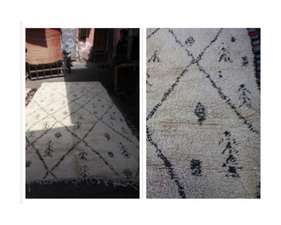 hand loomed in atlas mountains morocco - carpets from morocco - 3meter x 2 meter