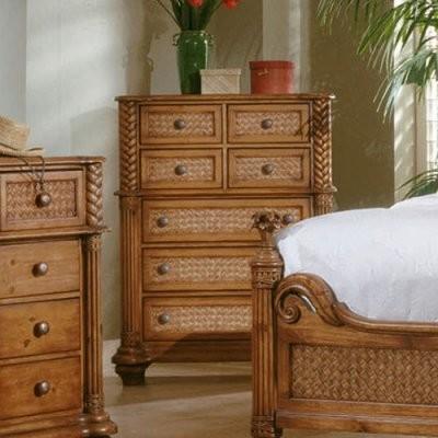 Progressive Furniture Palm Court 7 Drawer Chest Island Pine Modern Dressers By Hayneedle