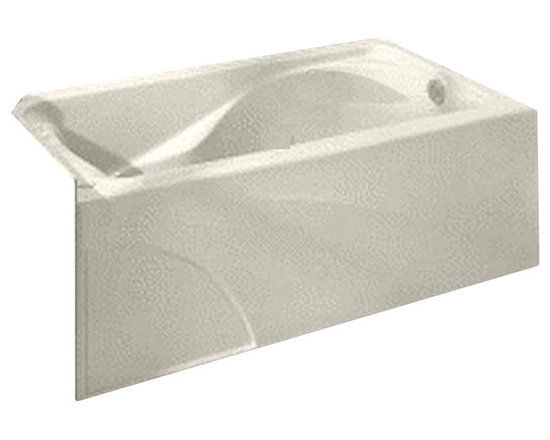 American Standard - Cadet 60 in. x 32 in. Integral Apron Tub with Left Drain in Linen - American Standard 2776.202.222 Cadet 60 in. x 32 in. Integral Apron Tub with Left Drain in Linen.