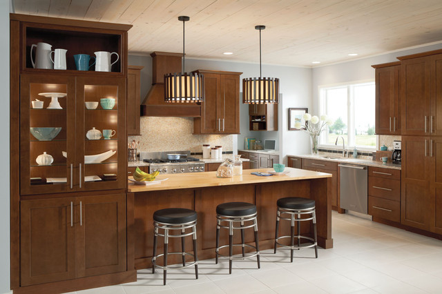 Mission Cherry Chocolate  Contemporary  Kitchen Cabinetry  other