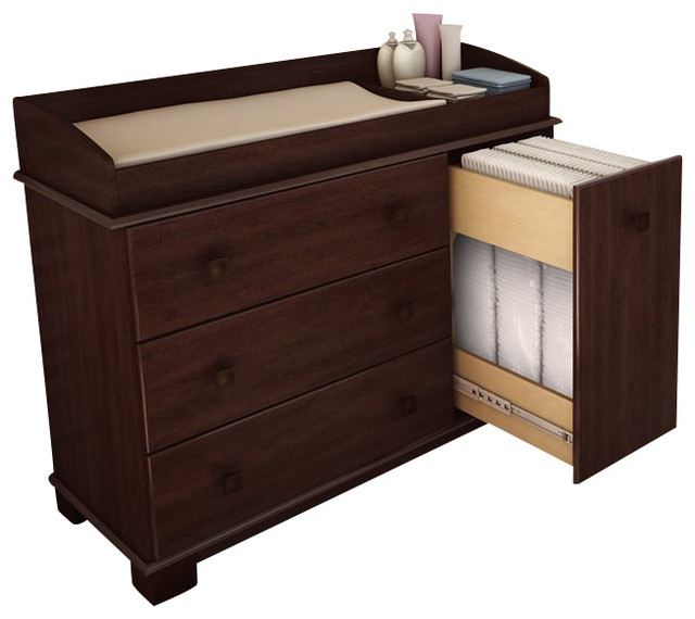 South Shore Sunny Baby Changing Table Royal Cherry
