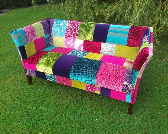 Patchwork sofa Designers guild Fabric. Designed by Katie moore. -