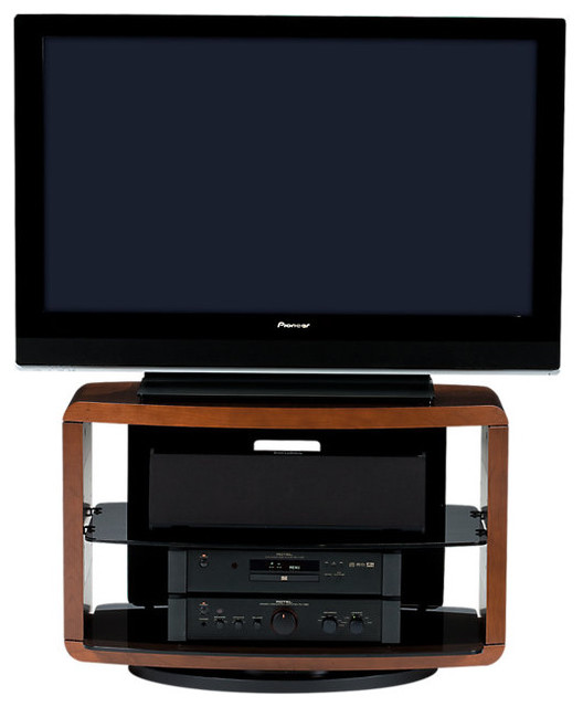 Valera 9723 TV Stand, Natural Cherry contemporary-entertainment-centers-and-tv-stands