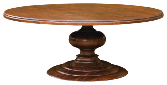 Magnolia Round Dining Table Dark Oak 76 Traditional