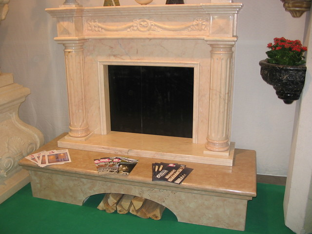 ROMAN TRAVERTINE NEO CLASSIC FIREPLACES fireplaces