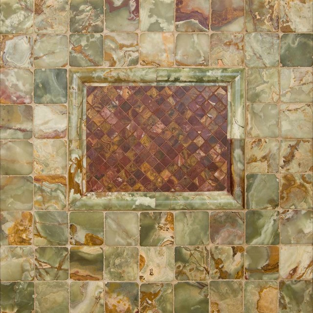 green and multi red onyx tile other metro by m s