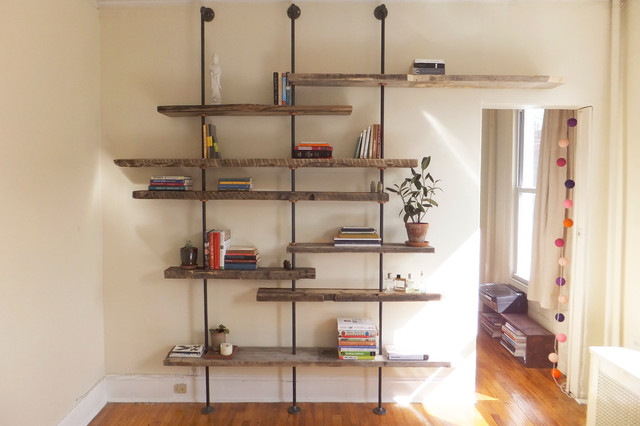 Modern Wood Shelves : ... Modern Shelving Unit of Reclaimed Wood rustic-display-and-wall-shelves