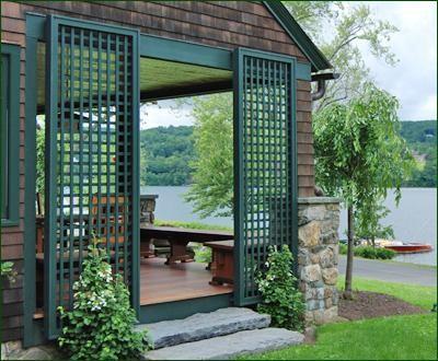 Vinyl Green Lattice Panels Traditional Outdoor