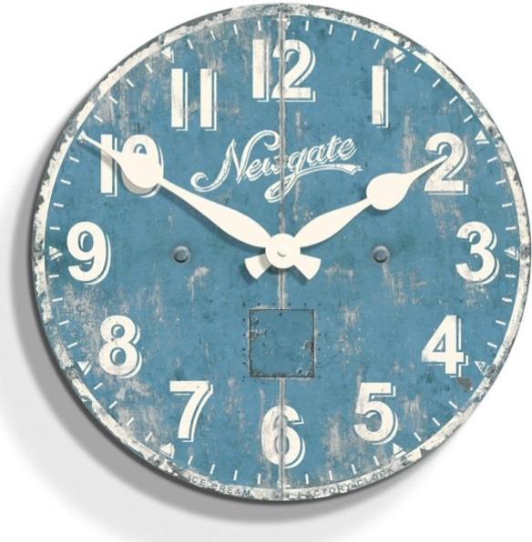 Ice Cream Factory Wood Wall Clock