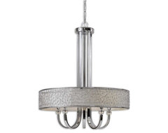 www.essentialsinside.com: brandon, 5 light single shade chandelier contemporary chandeliers