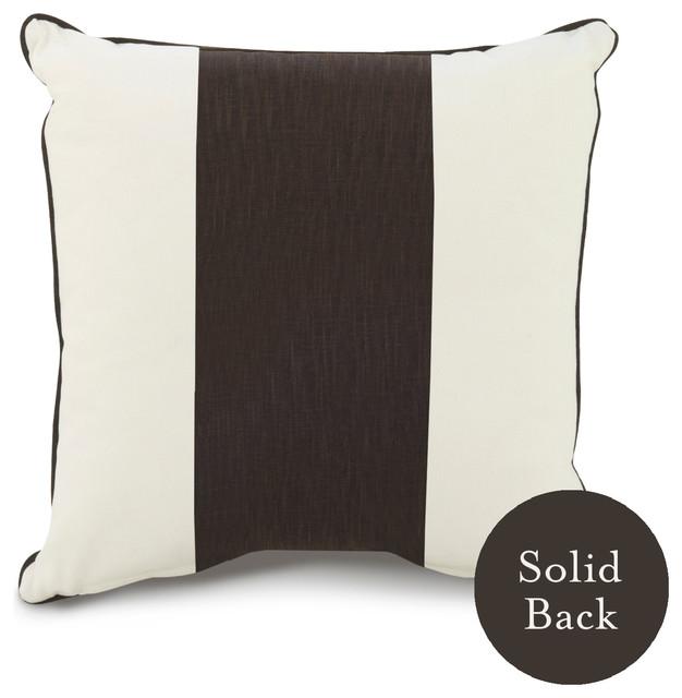 """18"""" x 18"""" Band Pillow, Brown contemporary-pillows"""