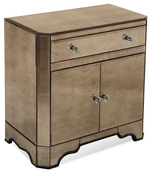 2 Door Chest with Drawer traditional-dressers