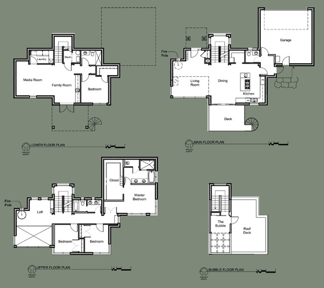 Floor plans modern seattle by dan nelson designs for Northwest architects